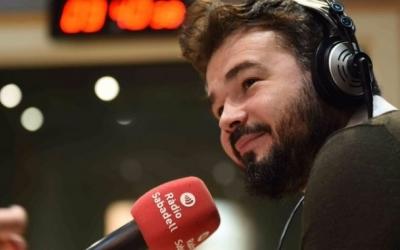 Gabriel Rufián als estudis de Ràdio Sabadell | Arxiu