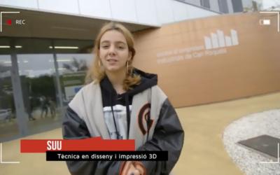 La cantant Suu ha provat el disseny i impressió 3D a Can Roqueta | Youtube
