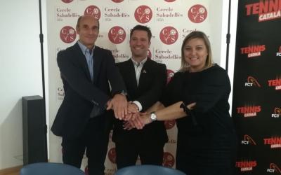 Jordi Andreu (president Cercle), Jordi Tamayo (FCT) i Laura Reyes (regidora d'esports) | Sergi Park