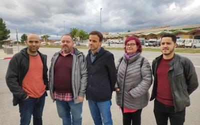 Els membres d'En Comú Podem a la Carretera N150 | Pau Duran
