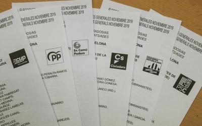 Les butlletes dels partits on s'hi poden trobar candidats sabadellencs | Roger Benet