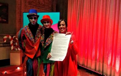 Dos patges reials i l'alcaldessa Marta Farrés | Helena Molist