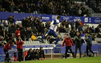 Édgar celebra el gol de falta | Sendy Dihör
