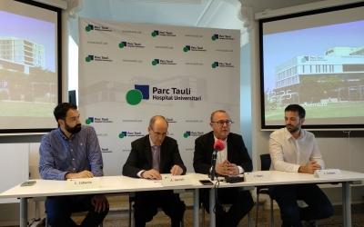 Presentació de l'acord a la capella de l'Hospital Taulí   Helena Molist