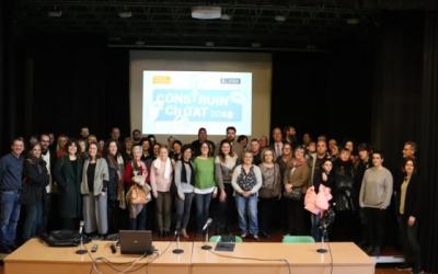 Representants dels 19 projectes premiats en l'edició d'aquest 2019 del Construint Ciutat/ Ajuntament de Sabadell