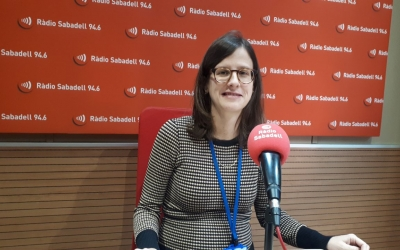 Carmina Massons, a Ràdio Sabadell/ Karen Madrid