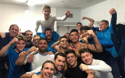 Celebració en el vestidor del CNS després de l'últim triomf | Instagram CNS futbol sala