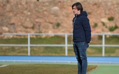 Jose Manzanera durant un entrenament del Sabadell a Sant Oleguer | Roger Benet