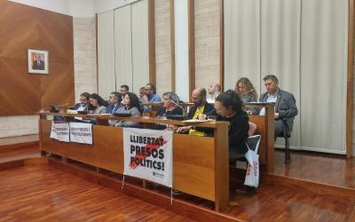 La bancada del Ple municipal on hi ha ERC i la Crida | Ràdio Sabadell