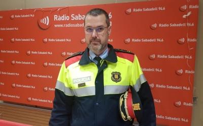 L'intendent en cap, Enric Cervelló, als estudis de Ràdio Sabadell | Núria García