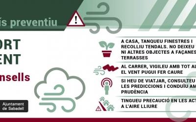 L'Ajuntament demana precacució als ciutadans davant l'episodi de fort vent | Cedida
