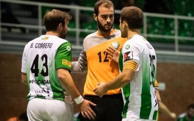 Quim Vaíllo (dreta), que tornava de lesió, va fer cinc gols | Èric Altimis - OAR Gràcia