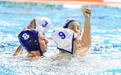 Judith Forca celebra un gol durant l'eliminatòria del passat curs | Roger Benet