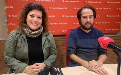 Cris Molins i Edu Navarro, coordinadors de Sabadell en Comú | Mireia Sans