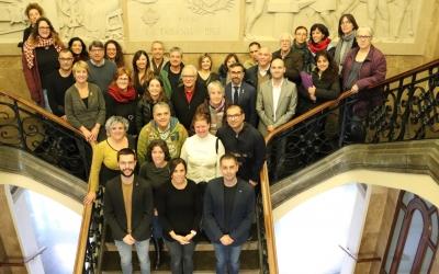 Foto de família del Dia de les Capacitats a l'Ajuntament | Cedida