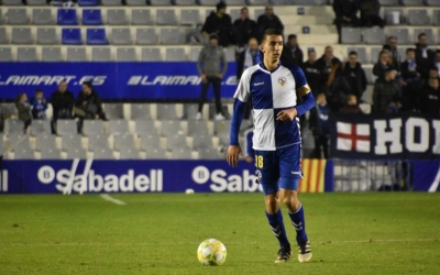Capó, en l'últim partit de lliga contra l'Ejea | Críspulo Díaz