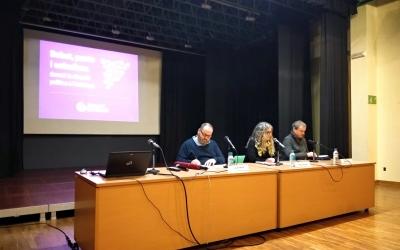 Joan Mena, Marta Salido i Sergi Calvo a l'acte | Helena Molist