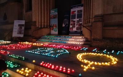 Encesa de Llums avui a la plaça Sant Roc | Helena Molist