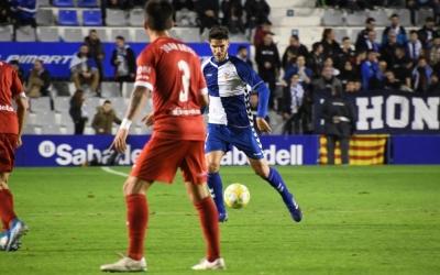 Cuevas, en el darrer partit contra el Lleida Esportiu | Críspulo Díaz