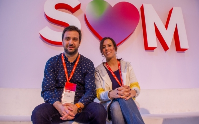 Pol Gibert i Marta Farrés al Congrés del PSC | Cedida