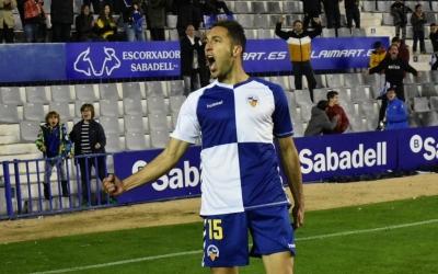 Boris, celebrant el seu primer gol com a arlequinat | Críspulo Díaz