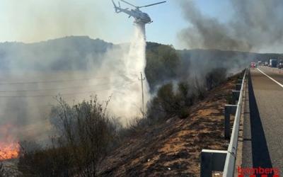 Imatge d'un incendi/ Bombers