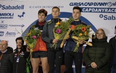 Jordi Torrents, Llorenç Esteve i Roger Sans, en el podi de la cursa dels cinc quilòmetres | Roger Benet