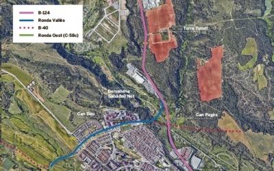 Possible traçat de la futura ronda Nord entre Castellar i Sabadell