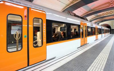 Un tren a Plaça Catalunya/ Ferrocarrils de la Generalitat