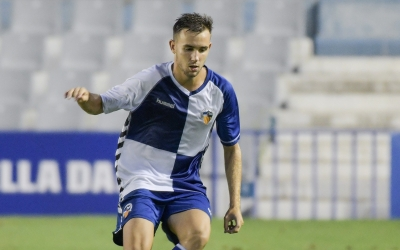 Acedo, en el partit de pretemporada contra el Sant Andreu | Roger Benet