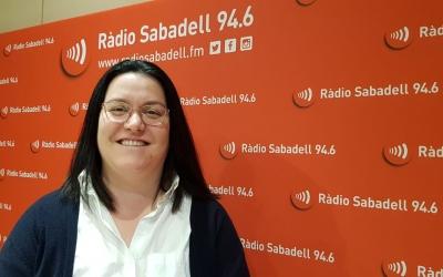 Mar Molina, als estudis de Ràdio Sabadell/ Núria Garcia