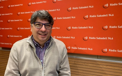 Xavier Martínez, a Ràdio Sabadell/ Mireia Sans