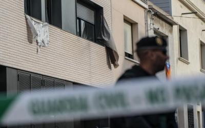 La Guàrdia Civil davant la residència de Jordi Ros, el 23 de setembre a Sabadell | Roger Benet