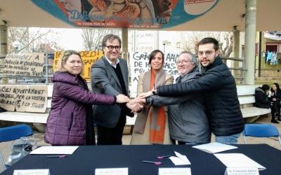 Les tres parts firmant al barri dels Merinals   Helena Molist