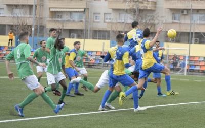 Moment del gol de Guitart (3-2) per al Sabadell Nord | Roger Benet
