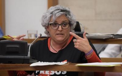 Nani Valero, en un Ple municipal/ Roger Benet