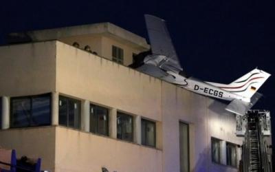 L'avioneta sinistrada a la gasolinera de Badia/ ACN