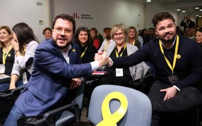 Pere Aragonès i Gabriel Rufián, al Consell Nacional d'Esquerra Republica/ ACNna