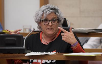 Nani Valero durant una intervenció al Ple municipal | Roger Benet