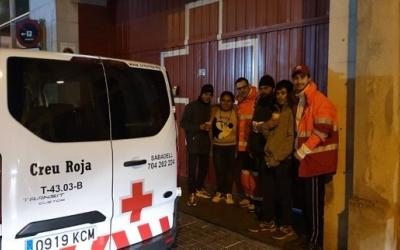 Imatge d'una de les sortides de la unitat d'emergència social | Creu Roja Sabadell