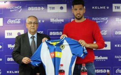 El nou president de l'Hércules, Quique Hernández, amb l'últim fitxatge, Sergio Jiménez | Hércules CF
