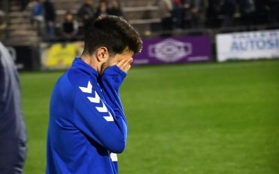 Boniquet, lamentant-se després de l'empat a Olot | Críspulo Díaz