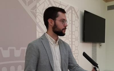 Eloi Cortés, després de la Junta de Govern d'avui/ Ajuntament de Sabadell
