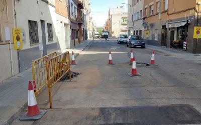 Imatge de la reparació d'un carrer/ Ajuntament de Sabadell