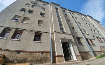 Imatge del bloc de pisos afectat per l'esfondrament de dimecres | Pere Gallifa