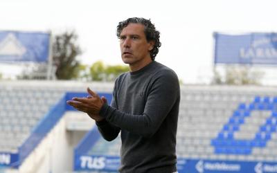 Raúl Garrido, en el partit de la primera volta a la Nova Creu Alta | Nuri Marguí (UE Olot)