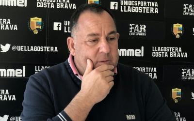 Alsina en una imatge d'arxiu a la sala de premsa del Municipal | UE Llagostera