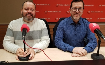 Joan Mena (esquerra) i Paco Aranda (dreta) | Ràdio Sabadell