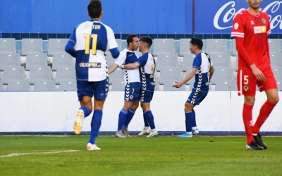 Boris celebra el seu estèril gol contra l'Hércules | Críspulo Díaz