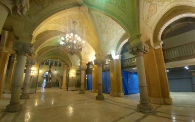 Interior de l'edifici modernista de la FCS després de la marxa del BBVA | Pere Gallifa